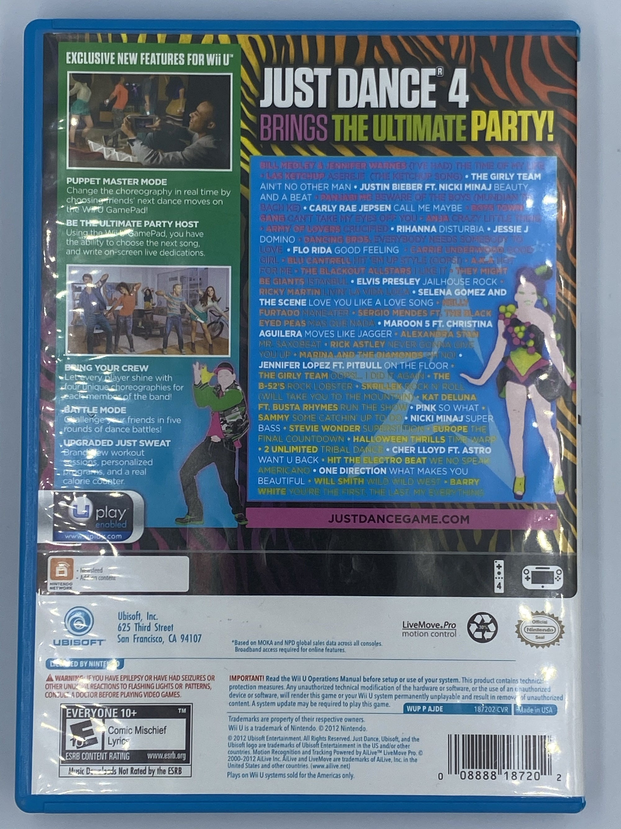 Wii U Just Dance 4 Video Game Used