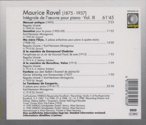 Integrale de L'uvre Pour Piano Vo [Audio CD] RAVEL,MAURICE