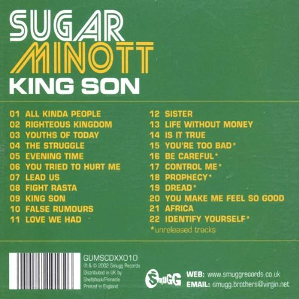 King Son (Includes 6 unreleased tracks) [Audio CD] Minott, Sugar