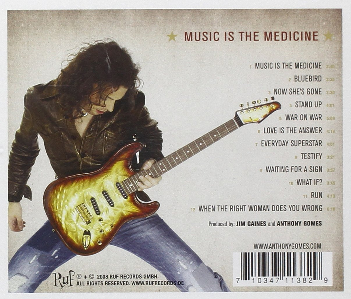 Music Is the Medicine [Audio CD] Gomes, Anthony