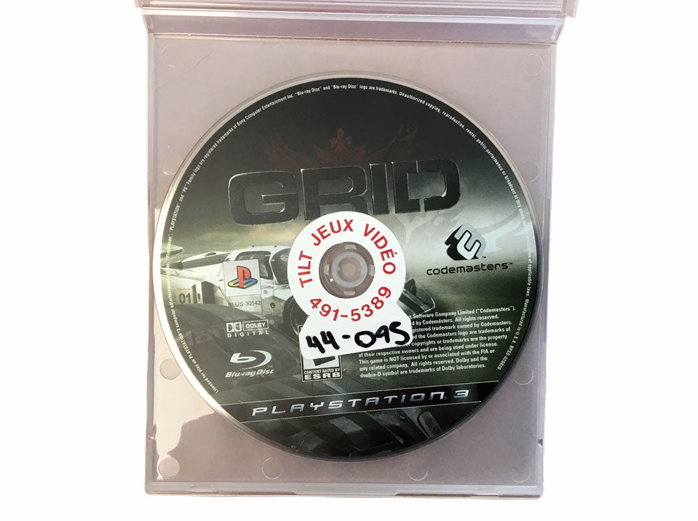 PS3 Grid Video Game T991