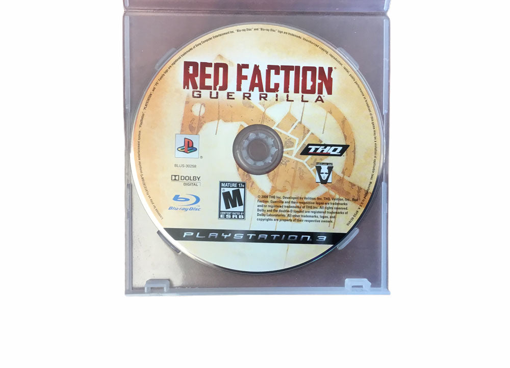 PS3 Red Faction Guerrilla Video Game T991