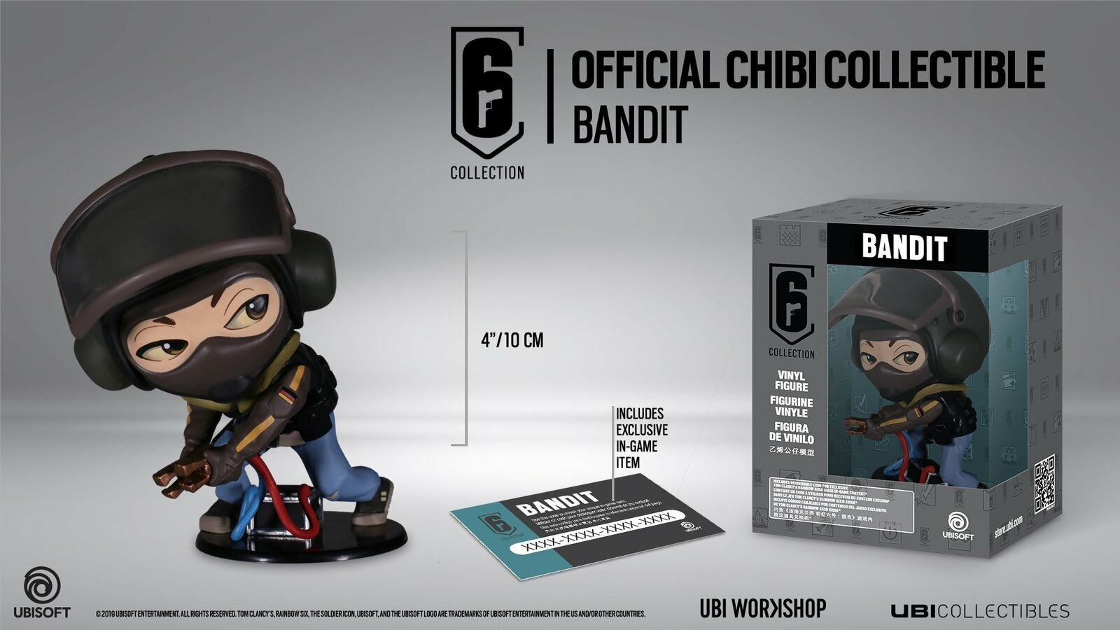 Rainbow Six Siege Collection Figurine Series 3 Bandit Chibi Figurine
