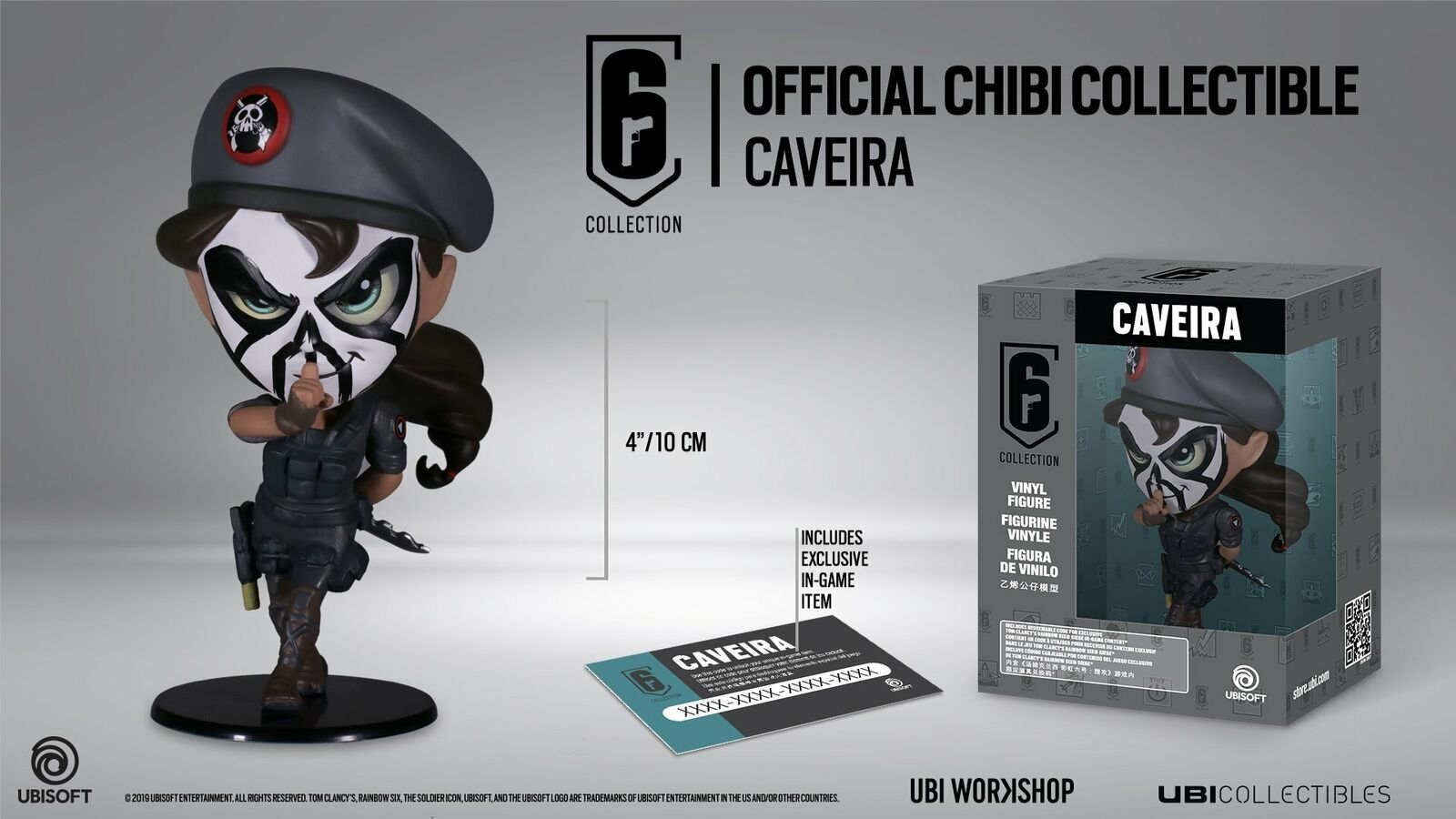 Rainbow Six Siege Collection Figurine Series 3 Caveira Chibi Figurine
