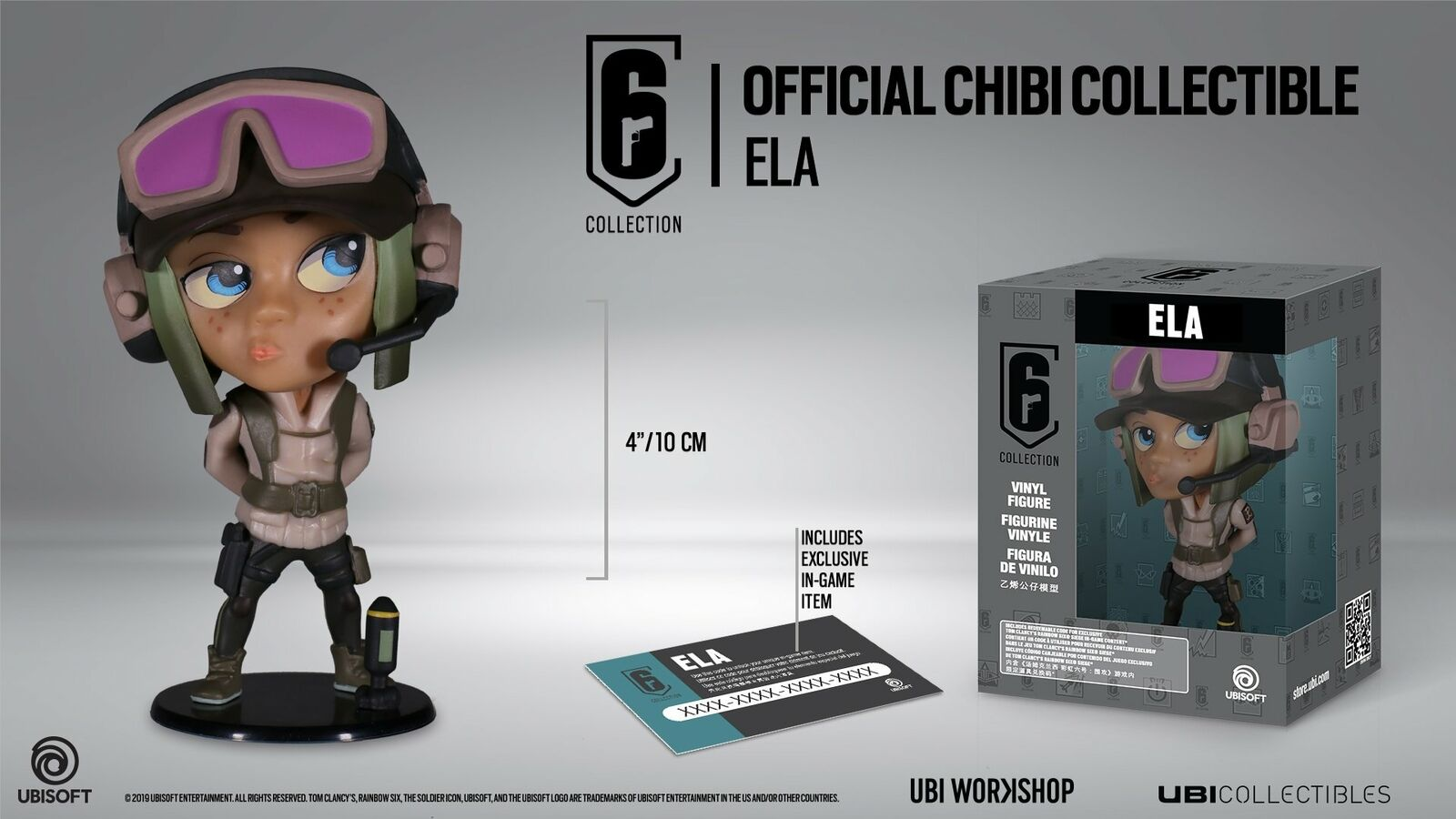Rainbow Six Siege Collection Figurine Series 3 Ela Chibi Figurine