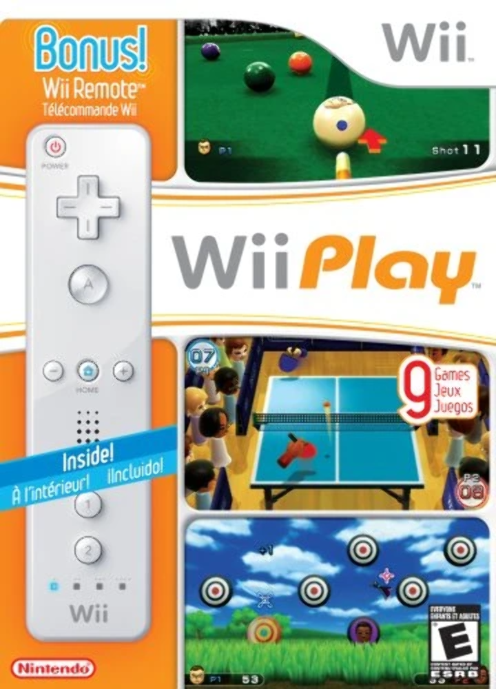Nintendo Wii Play With Remote Box And Game T847