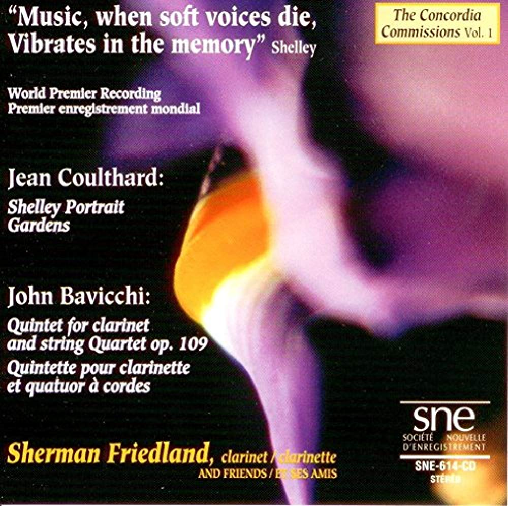 The Concordia Commissions Vol. 1 [Audio CD] Jean Coulthard; John Bavicchi and Sherman Friedland