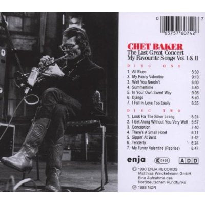 The Last Great Concert Vol. I & II [Audio CD] Baker, Chet