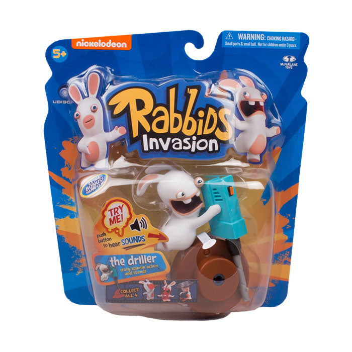 Ubisoft Canada McFarlane Toys Rabbids Sound and Action Series 2 The Driller Figure
