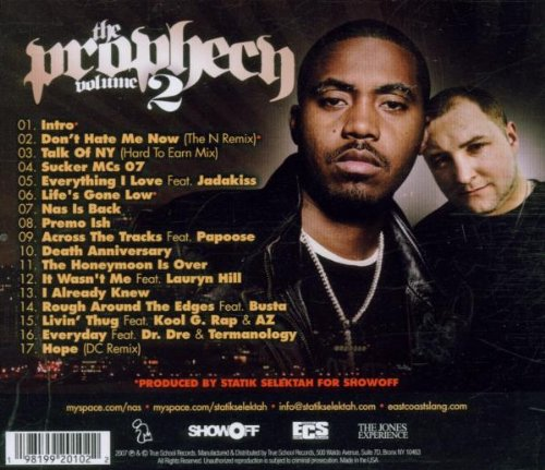 V2 Prophecy Featuring Nasty N [Audio CD] Statik Selektah