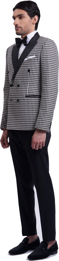 Houndstooth dinner jacket ensemble