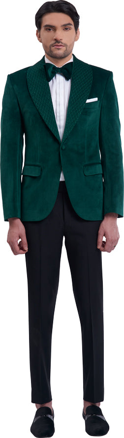 Green dinner jacket ensemble