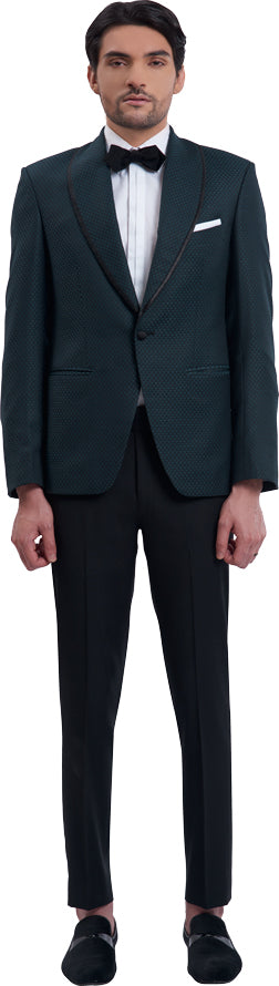 Teal dinner jacket ensemble