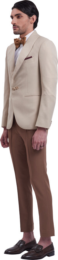 Cream Dinner Jacket Ensemble