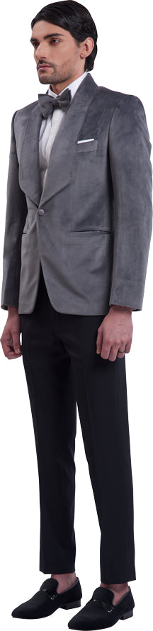 Grey dinner jacket ensemble