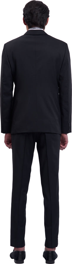 Black tuxdedo suit ensemble