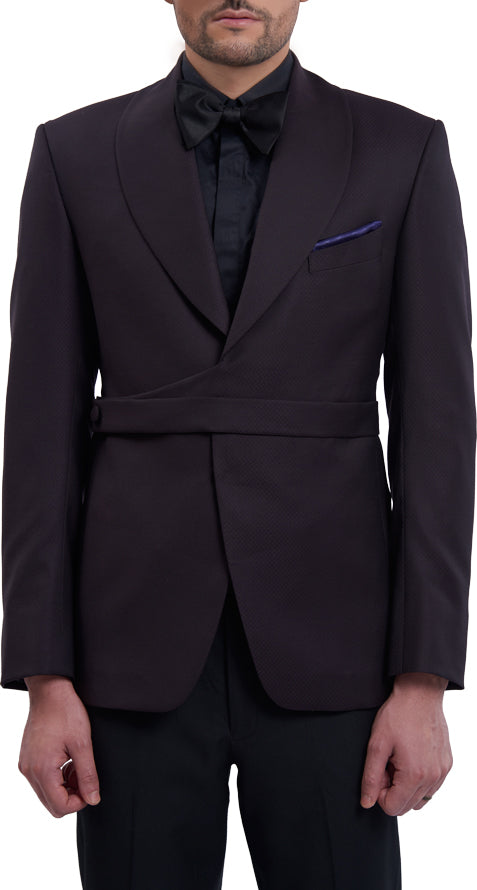 Dark purple dinner jacket ensemble