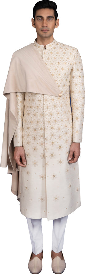 Cream Sherwani Ensemble