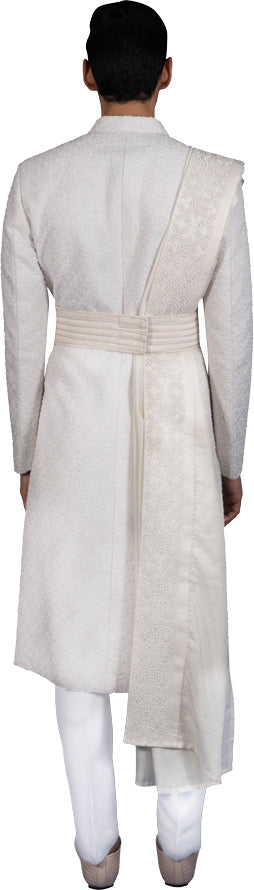 White Sherwani Ensemble