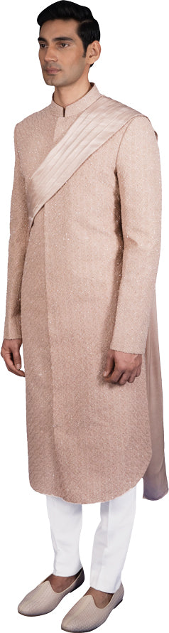 Rose Gold Sherwani Ensemble