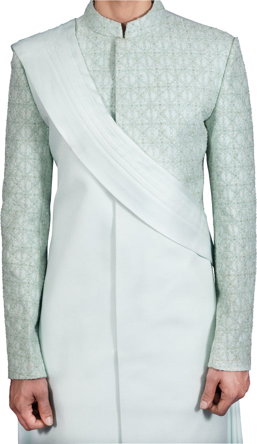 Ice Blue Sherwani Ensemble