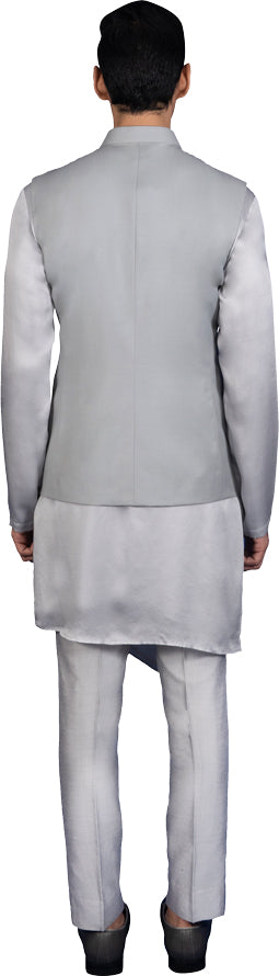 Sage Green Bandi Kurta Ensemble