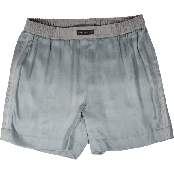 Solid Blueish-Grey Shorts