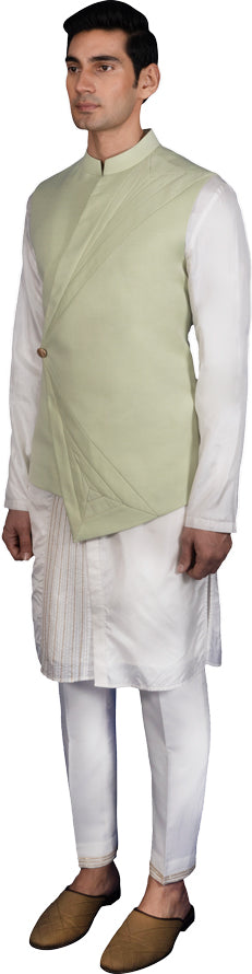 Mint Bandi Kurta Ensemble