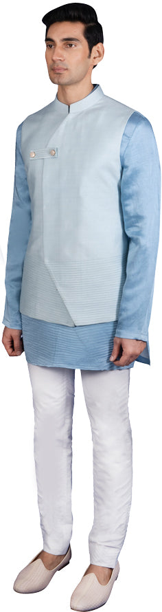 Blue Bandi Kurta Ensemble