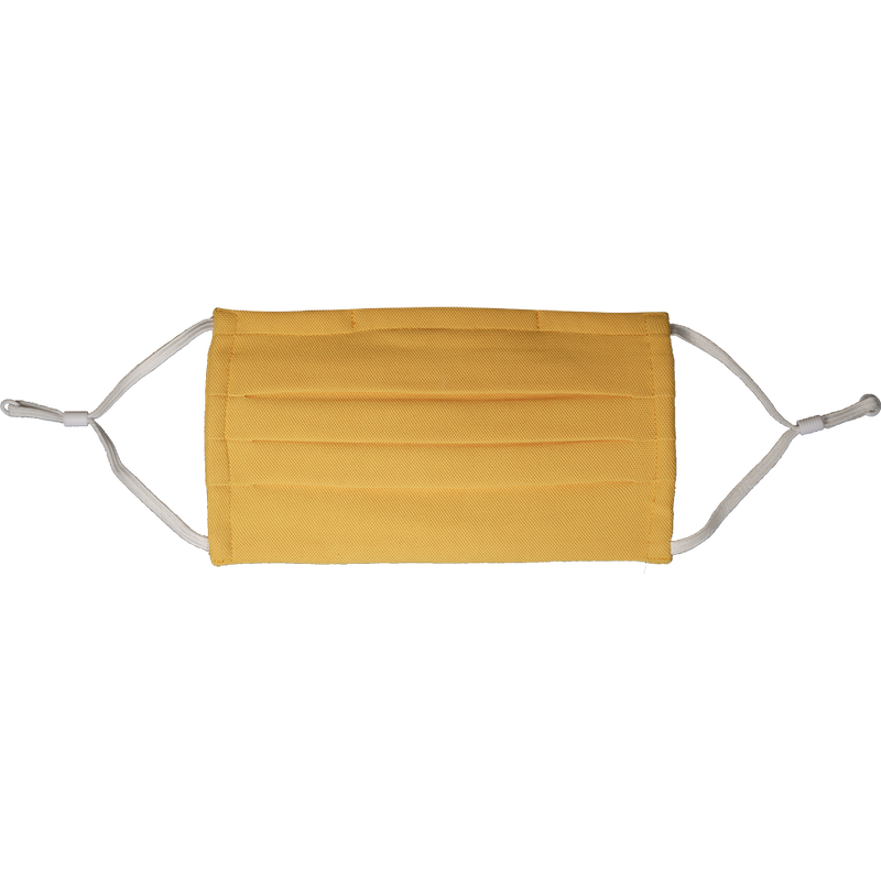 Chrome Yellow Pleated Antimicrobial Mask