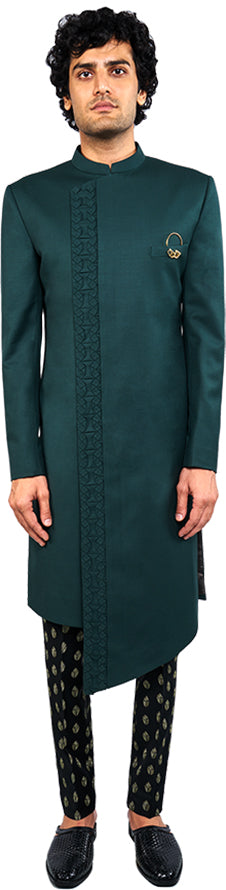 Green Sherwani Ensemble