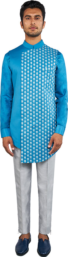 Teal Bandi & Kurta Ensemble