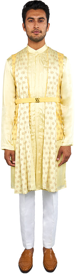 Yellow Bandi & Kurta Ensemble