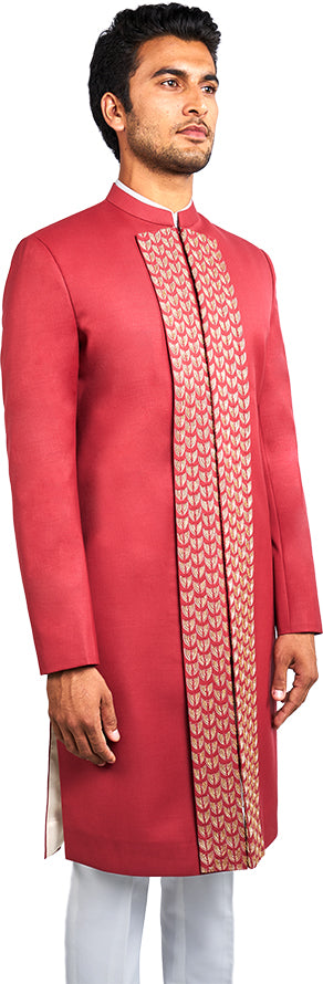 Tomato Red Sherwani Ensemble