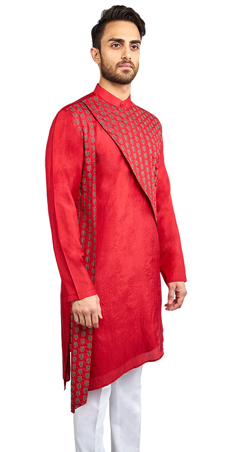 Bright Red Kurta
