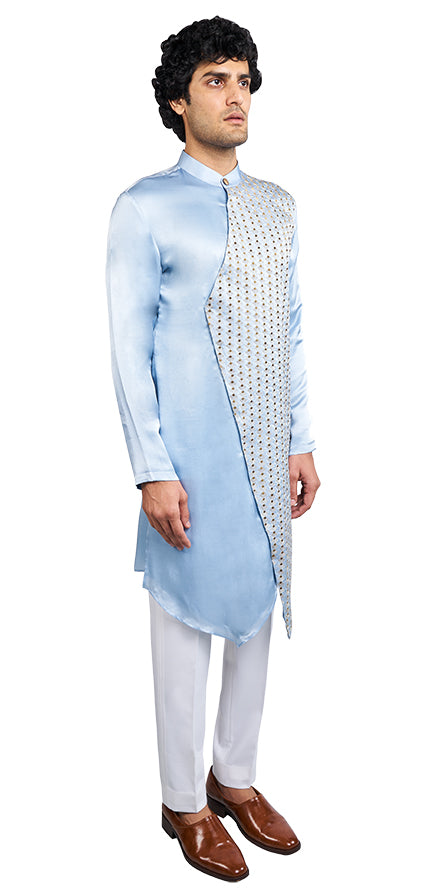 Ice Blue Kurta