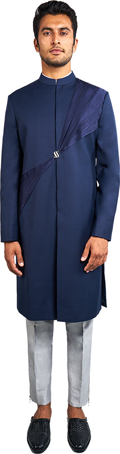 Navy Blue Sherwani