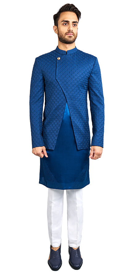 Navy Blue Bandhgala & Kurta Set