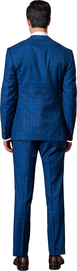 Blue two piece suit