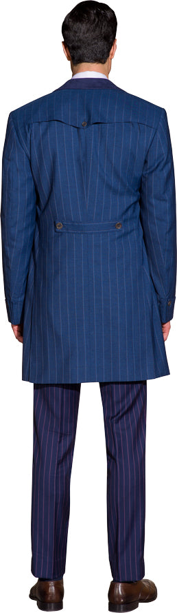 Denim blue overcoat