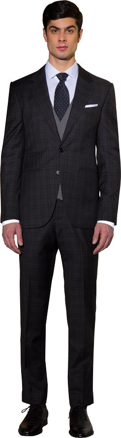 Charcoal three piece suit