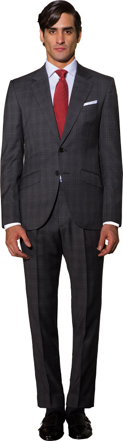 Mid grey two piece suit