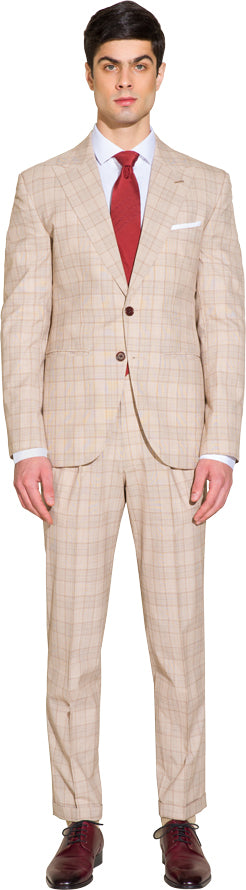 Light brown two piece suit