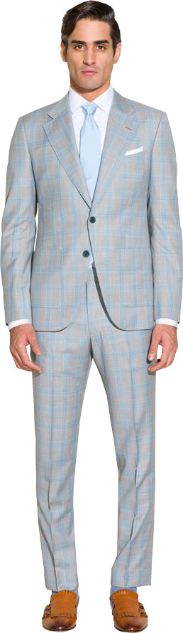 Light grey two piece suit