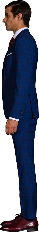Cobalt blue three piece suit