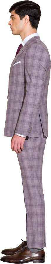 Soft light purple two piece suit