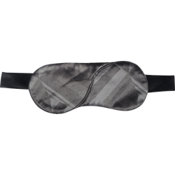 Black Grey Print Eye Mask