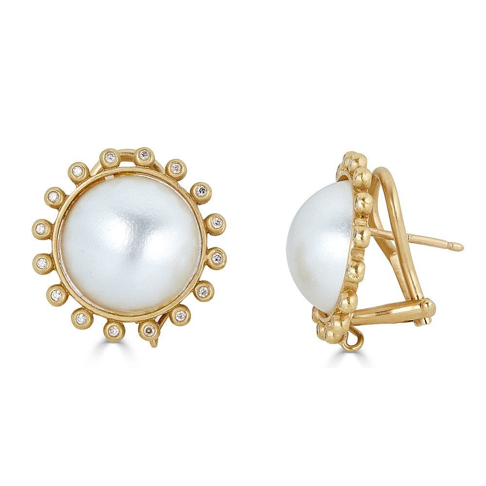 Large Pearl Clips