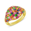 Pave Colored Stone Signet Ring