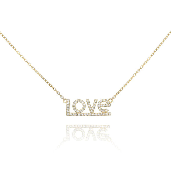 LOVE Pave Diamond Necklace